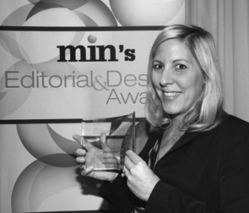 Alicia Smith at min's 2012 Editorial & Design Awards